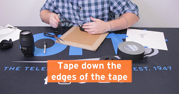 tape down the edges of the tape