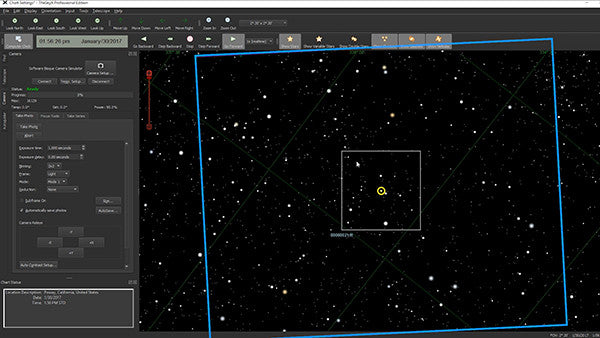 theskyx-field of view-proper location orientation in space
