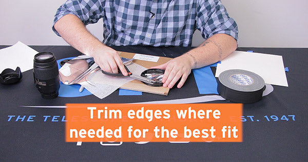 trim edges where needed for best fit