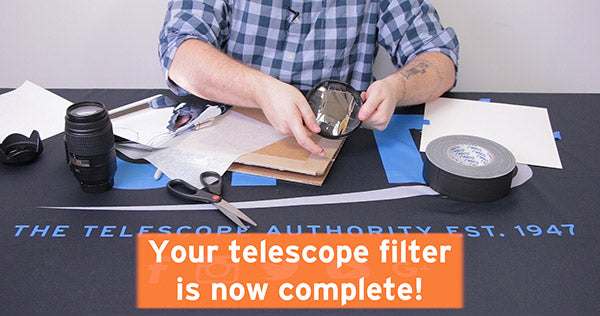 your telescope filter is now complete
