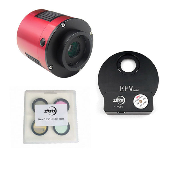 ZWO ASI 174 LRGB EFW Mini Monochrome Cooled CMOS Telescope Camera Kit