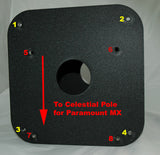 Top Plate with Hole Markings