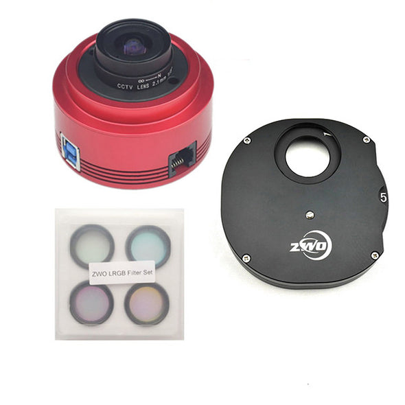 ZWO ASI 290 LRGB Manual Filter Wheel Monochrome CMOS Camera Kit