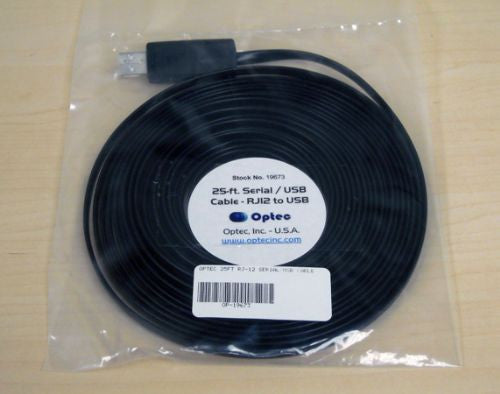 Optec 25 ft. RJ-12 Serial/USB Cable