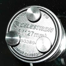 Bob's Knobs for Celestron C5 SCT's with Metric Collimation Screw Threads