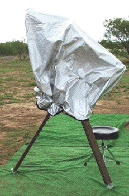 "TeleGizmos Solar Cover for 14"" SCT on a German Equatorial Mount"