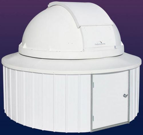 "PolyDome Explora-Dome Observatory - 8' Dome on 10' 6"" Round Building"