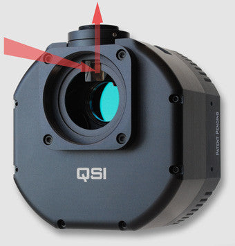 QSI 616WSG Monochrome CCD Camera - Mechanical Shutter, 5-Position CFW & Integrated Guide Port