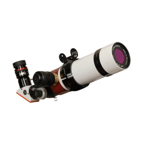 "Lunt 60mm Double-Stacked Pressure-Tuned f/8.3 Solar Telescope w/ 2"" Feather Touch & B600"