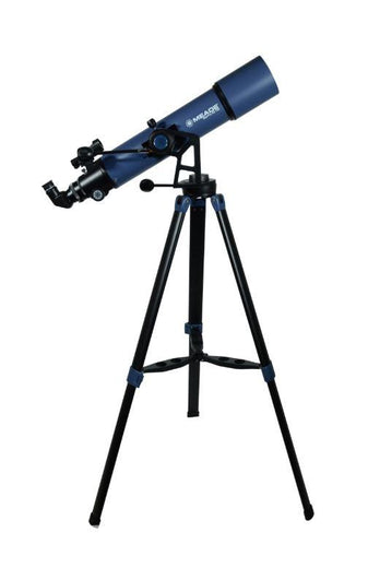Meade StarPro AZ 102 mm Telescope - right profile view with tripod