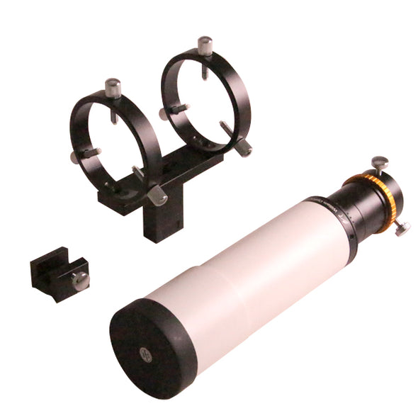 William Optics Guide Scope w/ Rings and Bracket Base(white)-DISCONTINUED-
