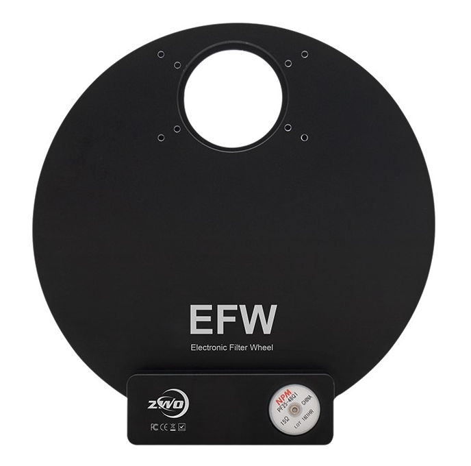 "Used ZWO Five Postion Electronic Filter Wheel with ZWO 1.25"" LRGB Filters"