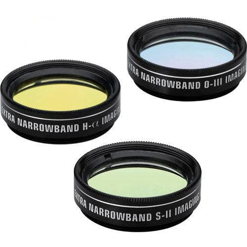 "Orion Extra Narrowband OIII, SII & H-Alpha CCD Filter Set - 1.25"" Round Mounted"