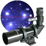 Antares 7x50 Right Angle Finderscope - Black w/Illuminated Red Dot