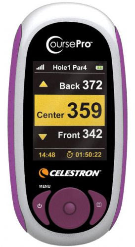Celestron CoursePro Personal GPS Golf Caddy - Mauve
