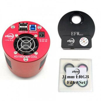 ZWO ASI1600MM Cooled Monochrome Camera- 31mm Imaging Filter Bundle
