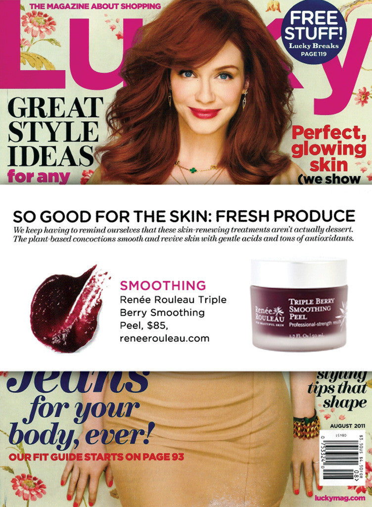 Lucky Magazine features Triple Berry Smoothing Peel