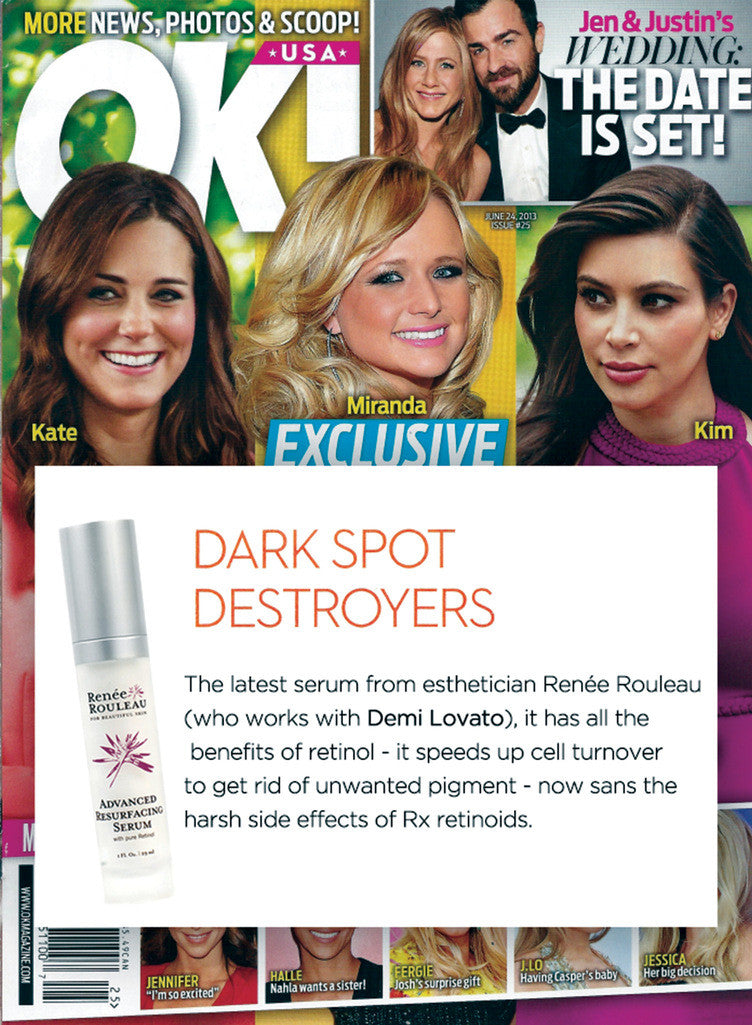 OK Magazine Features Advanced Resurfacing Serum