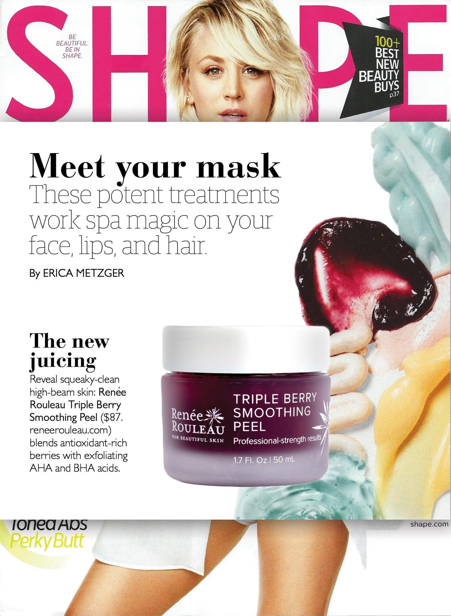 Shape Magazine Review of Triple Berry Smoothing Peel
