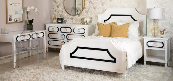 Black and White Beverly Bedroom