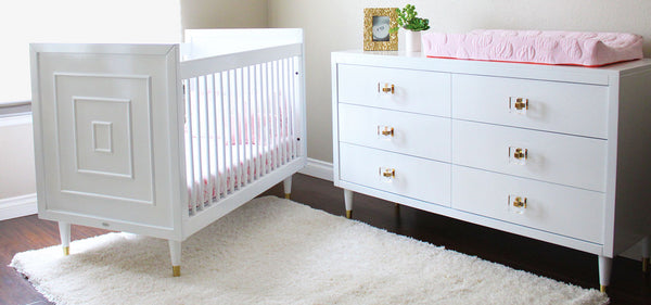 Pink and White Modern Baby Room