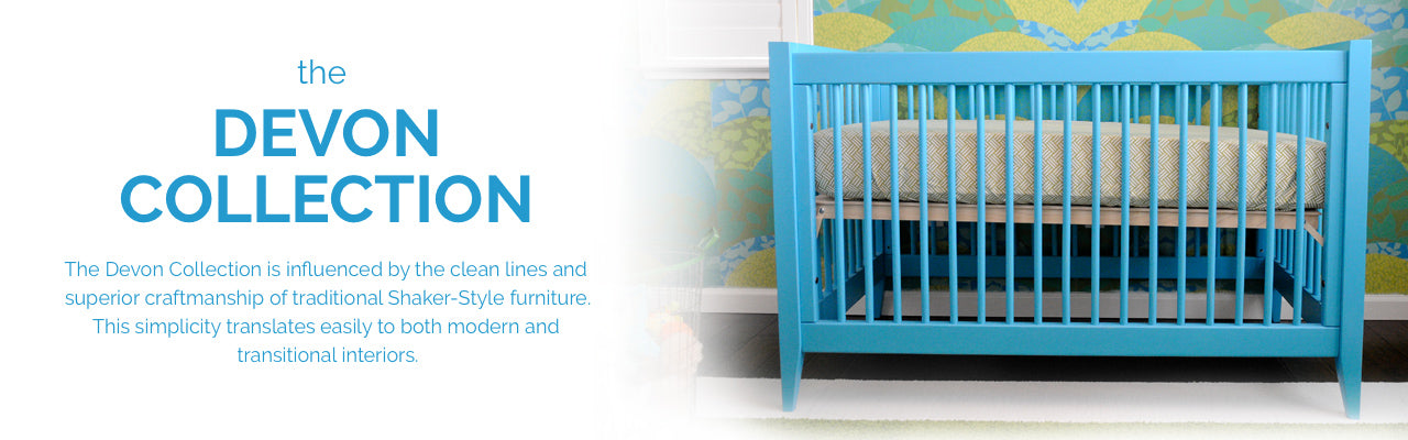 Devon Collection modern crib made in USA