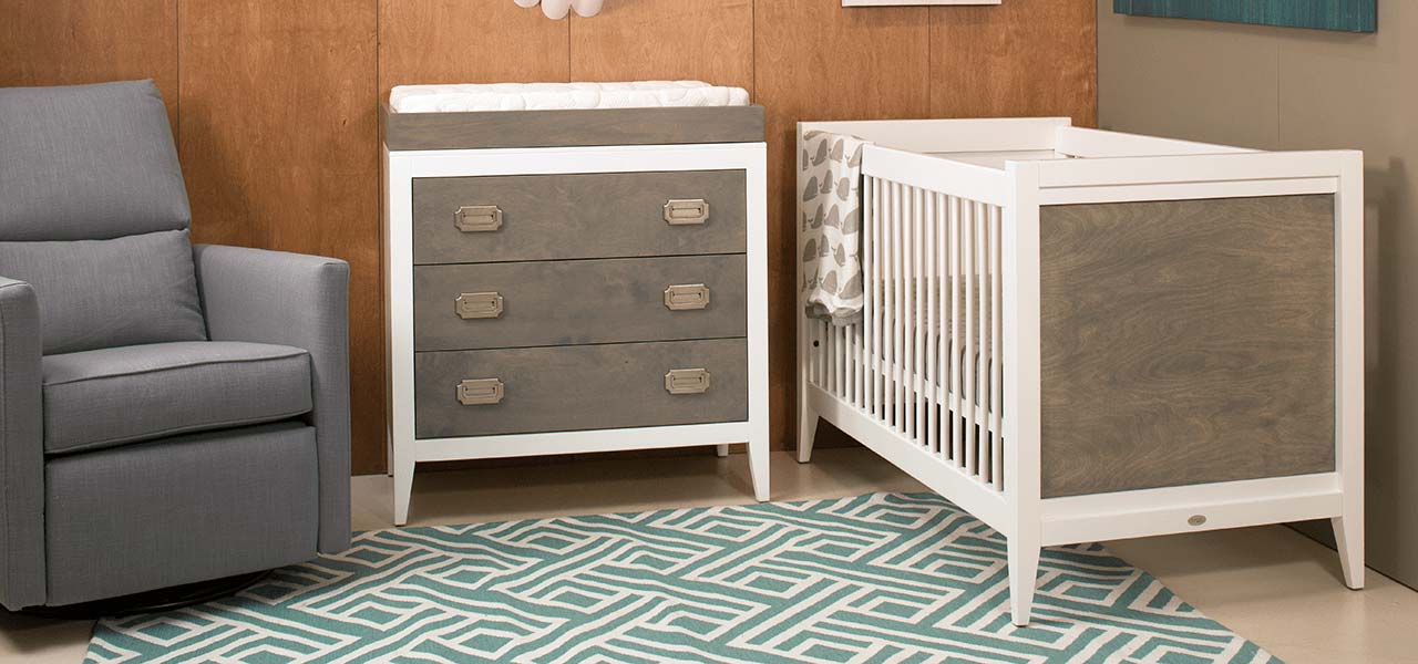 Modern Gray Amp White Nursery Newport Cottages Made In Usa