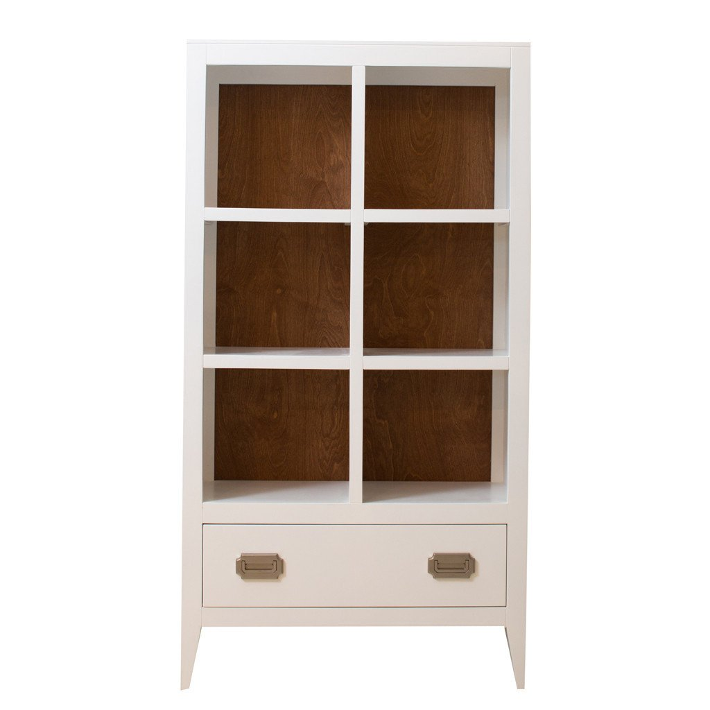 ash bookcase by ashmore uk with low veneer kitchen home amazon co drawer in dp bookcases