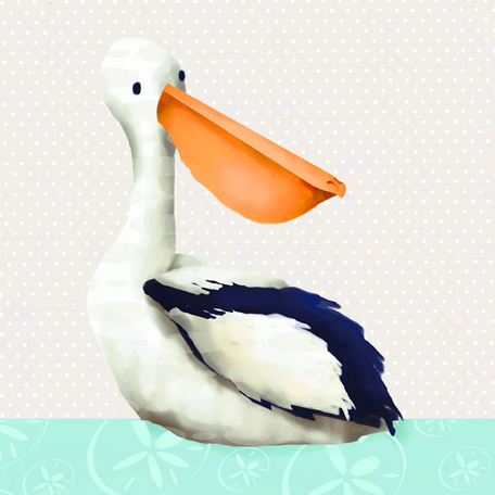 Oopsy Daisy | Pearl the Pelican Wall Art | Shop Newport Cottages ...