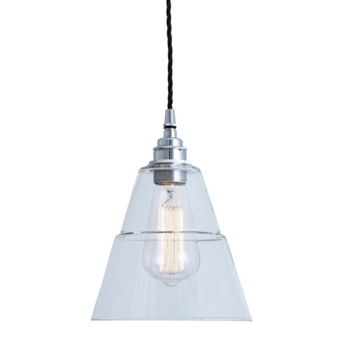 Lyx clear glass pendant light from mullan lighting quirky lighting lyx clear glass pendant light from mullan lighting mozeypictures Gallery