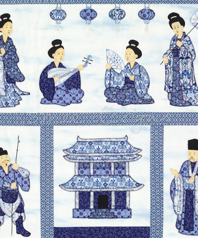 China Blue Court Quilt