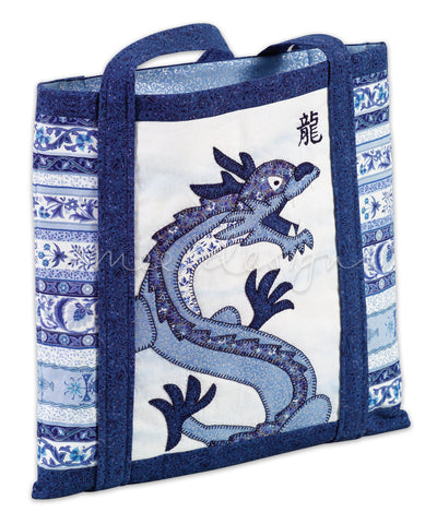 China Blue Dragon Bag