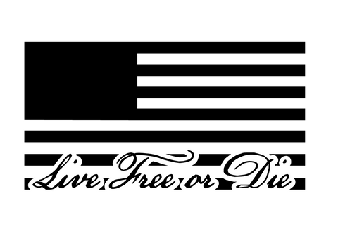 """Live Free or Die"" Flag Decal"
