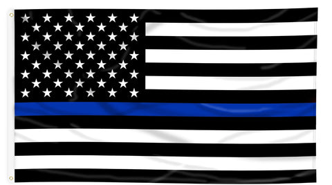 Thin Blue Line 3'x5' Polyester Flag