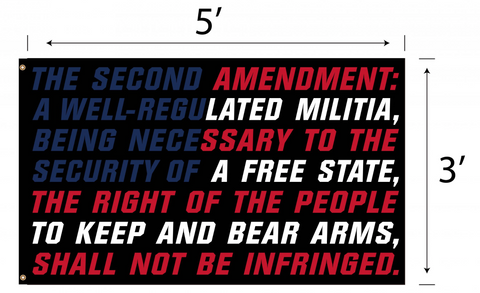 """Second Amendment"" 3'x5' Polyester Flag"