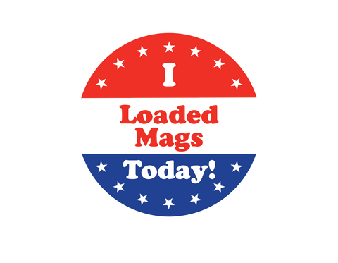 """Loaded Mags"" Sticker"