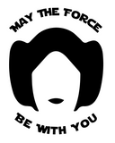 Princess Leia Holographic Vinyl Decal