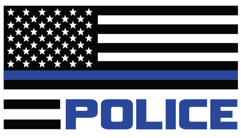 Police Flag TBL Decal