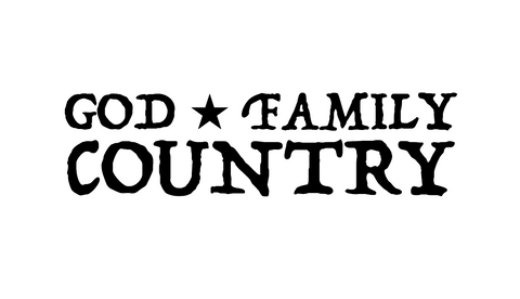 "7"" God, Family & Country decal"