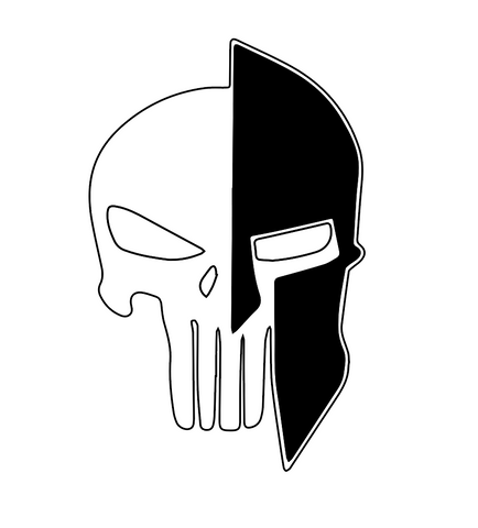 Spartan/Punisher decal