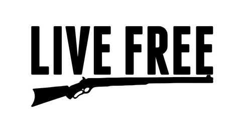 """Live Free"" Decal"