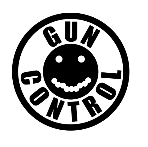 """Gun Control Smiley"" Decal"