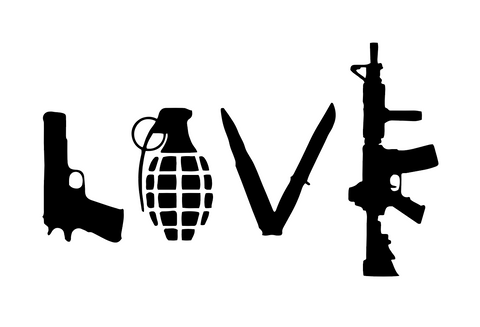 """Weapons Love"" Decal"