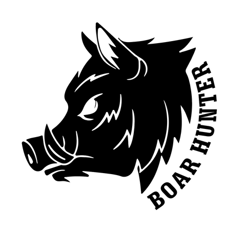 """Boar Hunter""  Decal"