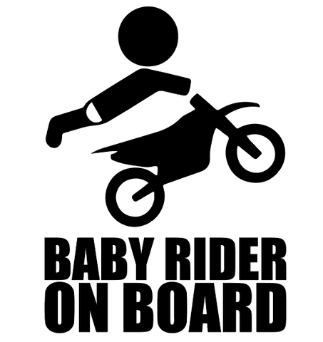 """Baby Rider on Board""  Decal"