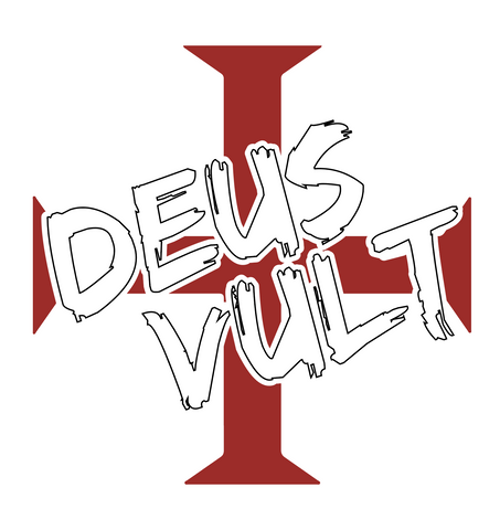 """Deus Vult"" 2 color Decal"