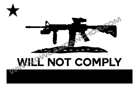 Will Not Comply Decal
