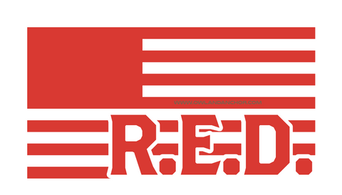 """R.E.D. Flag"" Decal"