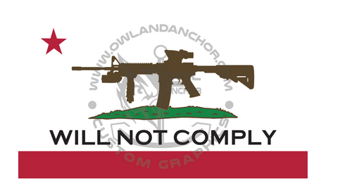 """Will Not Comply"" Graphic"