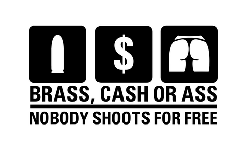 """Nobody Shoots For Free"" Decal"